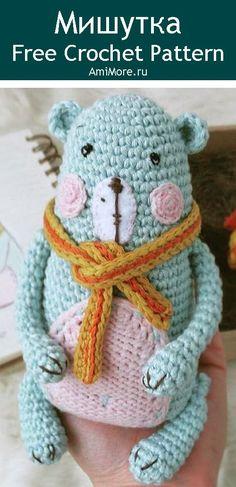 PDF Мишутка крючком. FREE crochet pattern; Аmigurumi animal patterns. Амигуруми схемы и описания на русском. Вязаные игрушки и поделки своими руками #amimore - мишка, медведь, медвежонок, мишутка, teddy bear, oso, suportar, ours, bär, ayı, niedźwiedź, medvěd, bära. Amigurumi doll pattern free; amigurumi patterns; amigurumi crochet; amigurumi crochet patterns; amigurumi patterns free; amigurumi today.