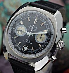 C. 1970 s LA CLOCHE Super Waterproof Chronograph Valjoux 7734 S.S. Dive Watch