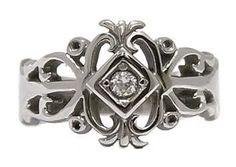 gothic wedding ring