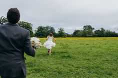 Image by Babb Photo - A Classic Country House Wedding At Nether Wichenden House With Bride In Gown By Jesus Peiro And Bridesmaids In Yellow Dresses http://www.rockmywedding.co.uk/lean-on-me/