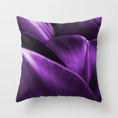 Ultraviolet Flower Petals #decor #society6 #homedecor Throw Pillow by pivivikstrm | #S6GTP ~ Created by one of my friends at #Society6 -  Worldwide shipping available at Society6.com. Just one of millions of high quality products available.