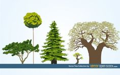 vector tree collection