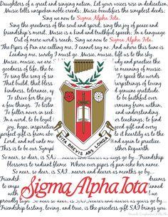 Sigma Alpha Iota crest, symphony, and songs! #SigmaAlphaIota