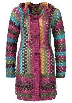 khujo - THITE - Cardigan - lilla by muriel Form Crochet, Crochet Jacket, Crochet Cardigan, Knit Or Crochet, Crochet Granny, Crochet Shawl, Crochet Patterns, Estilo Hippie, Beautiful Crochet