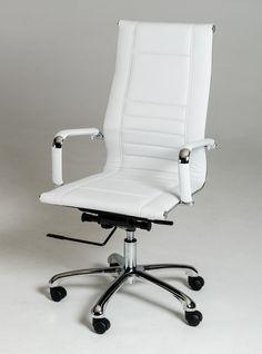 Modrest Harrison Modern White Leatherette Office Chair   [L]