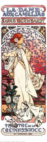 Alphonse Mucha - La Dame Aux Camelia. Opéra