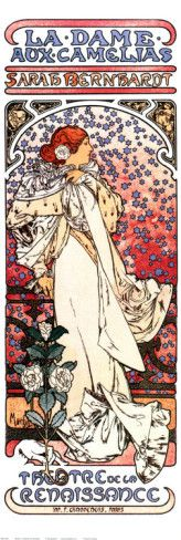La Dame aux Camelias Posters by Alphonse Mucha at AllPosters.com