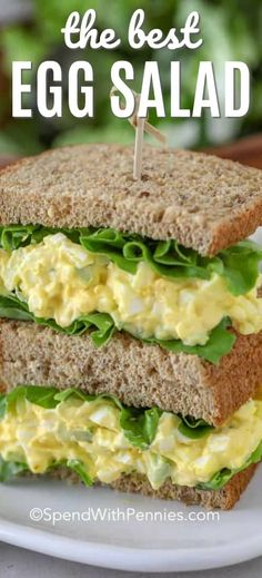 This simple homemade egg salad recipe is great for egg salad sandwiches, and as an easy lunch recipe! #spendwithpennies #eggs #eggsalad #eggsaladsandwich #eggsaladrecipe #eggsaladsandwichrecipe #homemadeeggsalad #lowcarbeggsalad