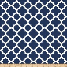 Riley Blake Medium Quatrefoil Navy from @fabricdotcom Designed by the RBD Designers for Riley Blake Designs, this cotton print is perfect for quilting, apparel and home decor accents. Colors include navy and white.