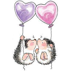 Penny Black Hedgehog Kisses Cling Rubber Stamp