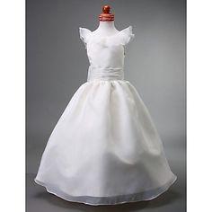 Ball Gown Jewel Floor-length Organza Flower Girl Dress – EUR € 68.76