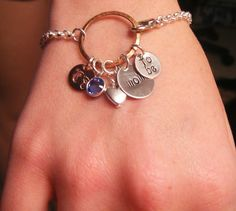 Hand Stamped Jewelry Personalized Pregnant by BeeBaublesJewelry, $35,00