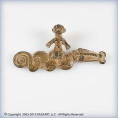 Gan African Bronze Pendant Amulet Serpent Burkina Faso