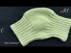 Knee Cap / Knee Warmer (घुटनो को गरम रखने के लिए ) : Knitting Video in H. Knitting Videos, Easy Knitting, Knitting Socks, Knitted Blankets, Knitted Hats, Crochet Hats, Crochet Granny, Knitting Patterns Boys, Crochet Patterns