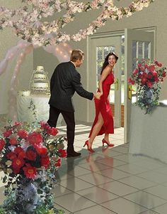 FIANCE WANTED FAST! by James V Griffin Digital Painting ~  x