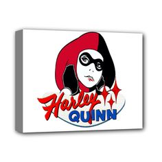 """Harley+Quinn+Deluxe+Canvas+14""""+x+11""""+(Stretched)"""