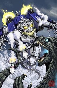 Godzilla vs Mecha-Godzilla - Matt Frank