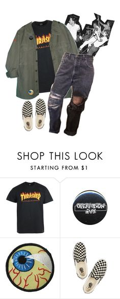 """kill the poor // dead kennedys"" by trashpunk ❤ liked on Polyvore featuring Vans"