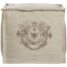 Curations Limited Sabena Tall Pouf Linen 7801.1003.A008