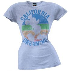 Mickey Mouse - California Dreaming Juniors T-Shirt | OldGlory.com