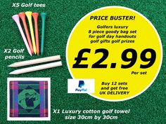 Are you planning a golf day? Need a golf gift for your guests? Plan A, How To Plan, Golf Day, Golf Towels, Golf Gifts, Golf Accessories, Ebay