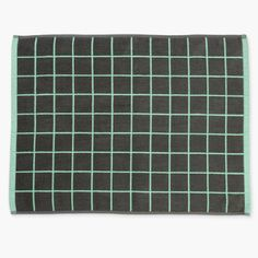 Aura Home Lattice Bath Mat - Mint/smoke