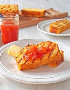 Cheddar Cornbread with Chile Jam