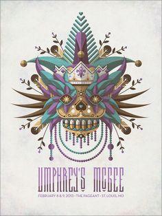 """Umphrey's McGee // 18""""x24"""" four-color screenprint"""