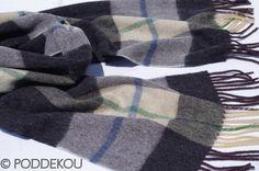 ŠÁL Z JAHŇACEJ VLNY – SIVO-ČIERNY | PODDEKOU Wool Scarf, Plaid Scarf, Scarves, Fashion, Colors, Scarfs, Moda, Fashion Styles, Fashion Illustrations