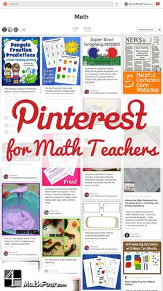 Have you used Pinterest? Have you used it for your math classes? Well, you can! ~Bon
