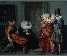 Rijksmuseum Fan Bot ‏ 10 hpřed 10 hodinami Elegant Couples Courting by Willem Pietersz. Canvas Paper, Oil On Canvas, Canvas Art, Renaissance, Elegant Couple, Dutch Golden Age, Illustrations, Old Master, Silhouette