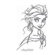 Cross stitch pattern Elsa Frozen sketched door LeRayonDeSoleil