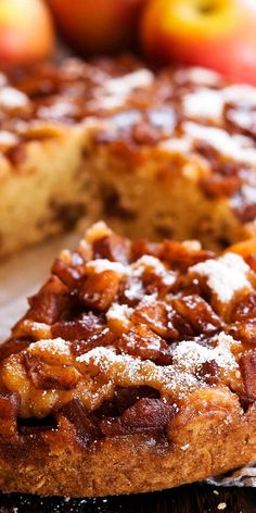 Apple Cinnamon Cake, Apple Cake, Apple Desserts, Delicious Desserts, Yummy Food, Cooked Apples, Fresh Apples, Traditional Easter Desserts, Granulated Sugar