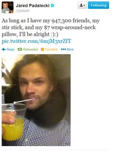Jared Padalecki on Twitter.  Hahahhahahhaaahahahajajajajajaja.  So funny I start laughing weird.  #jaredpadalecki #supernatural