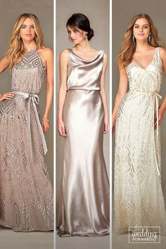 24 Full On Glitz Sequined & Metallic Bridesmaid Dresses ❤ We have totally…