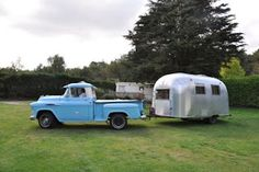 I really want an old truck, maybe a 54 Chevy to tow my T@B trailer.