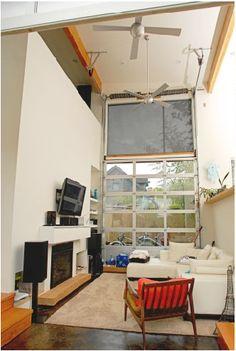 Garage Doors For Interiors (basement idea...)