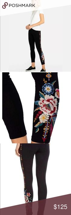 1ac71ce21ee3a JOHNNY WAS PLUS SIZE FLORAL LEGGINGS 2X 🌷🌺🌸GORGEOUS Johnny Was floral  leggings will