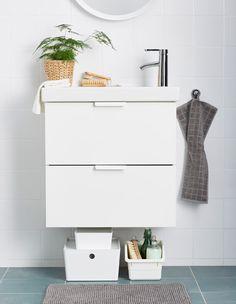 Klein aber fein! Wer sagt, dass man nur mit einem großen Waschbeckenschrank Ordnung bekommen kann?