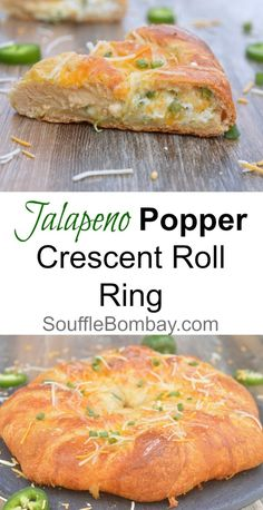 Recipe for Jalapeno Popper Crescent Roll Ring. All the goodness of Jalapeno Poppers nestled inside a ring of warm, flaky Pillsbury Crescent Polls. Mexican Food Recipes, Vegetarian Recipes, Cooking Recipes, Chef Recipes, Cooking 101, Pastry Recipes, Kitchen Recipes, Bread Recipes, Yummy Recipes