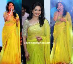 Singer Sunitha in a lehenga saree photo