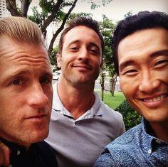 Scott Caan, Alex O'Loughlin and Daniel Dae Kim - Hawaii Five-0 #H50