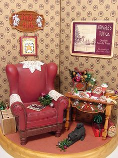 3 Sided Christmas Display 1:12 Scale Miniature | 1:12 Scale … | Flickr