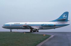 "Luxair Sud Aviation SE-210 Caravelle VI-R LX-LGG ""Princess Marie-Astrid"" at Paris-Charles de Gaulle, circa 1970s. (Photo via Flickr: Alain Durand)"