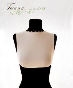 Bralette, Cami bra, Modest bralette, Cleavage cover, Cover collarbone ,Lace bralette, White bralette, Modesty panel, Modest clothing, Modest
