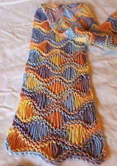 #knitting Seafoam Scarf (Free Pattern)