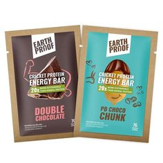 Cricket Protein Powder by EARTHPROOF PROTEIN Canada - buy best-tasting cricket powder online here. Choose from pure, chocolate, vanilla or raspberry flavours Hemp Protein, Protein Blend, Vegan Protein, Protein Bars, Protein Shakes, Packging Design, Chocolate Wafers, Crickets, Food Packaging Design