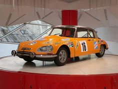 Citroen DS 21 Coupe inside the historic showroom at 42 Avenue des Champs - Elysees.