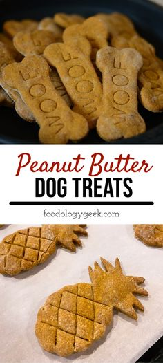 dog treats homemade The best DIY dog treats! These super easy homemade peanut butter dog treats are healthier and way cheaper than what you could buy in any store. Dog Cookie Recipes, Easy Dog Treat Recipes, Homemade Dog Cookies, Dog Biscuit Recipes, Homemade Dog Food, Dog Food Recipes, Homemade Dog Biscuits Recipe Easy, Homemade Recipe, Bacon Dog Treats