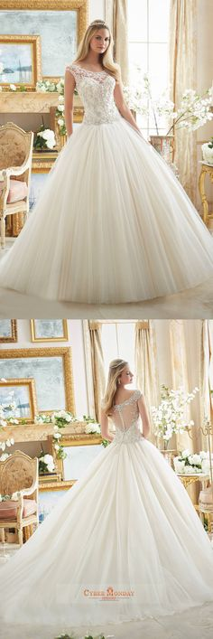 Off The Shoulder Wedding Dresses A Line Tulle With Embroidery And Beads Item Code: #CMDPL4CNBAM